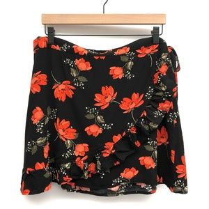 Garage Sierra Furtado Black Floral Skirt - Size L
